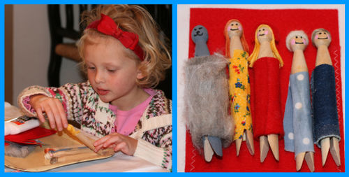Clothespin dolls