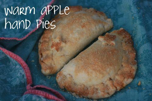 Warm apple hand pies