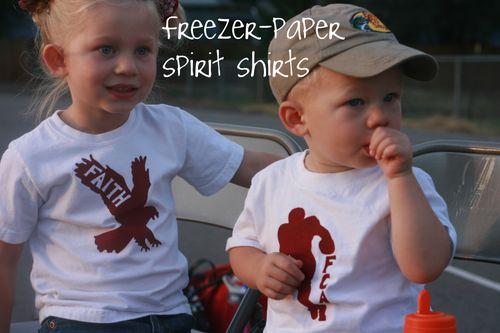 Freezer paper shirts