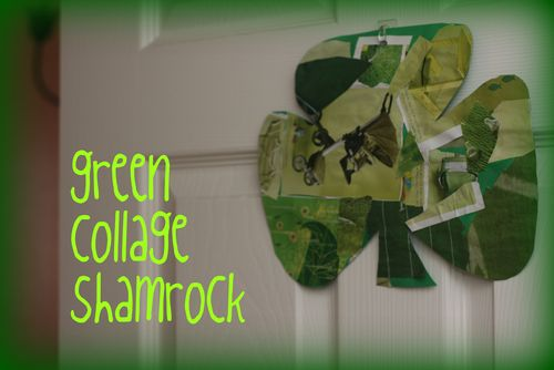 Green collage shamrock