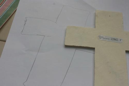 Scrapbook paper crosses